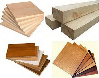 Used materials for furniture production